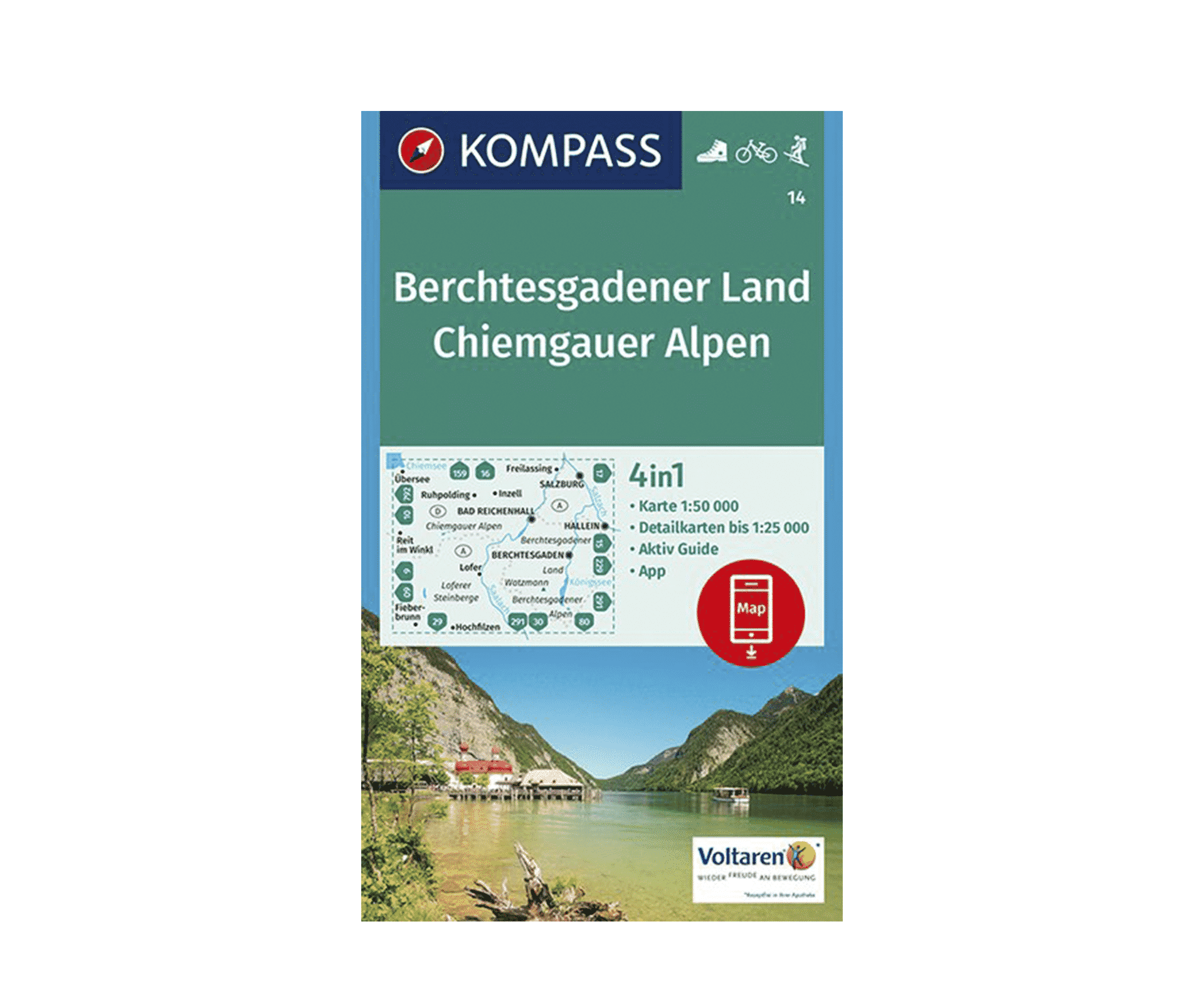 Berchtesgadener Land Karte.Berchtesgadener Land Chiemgauer Alpen Kompass 14