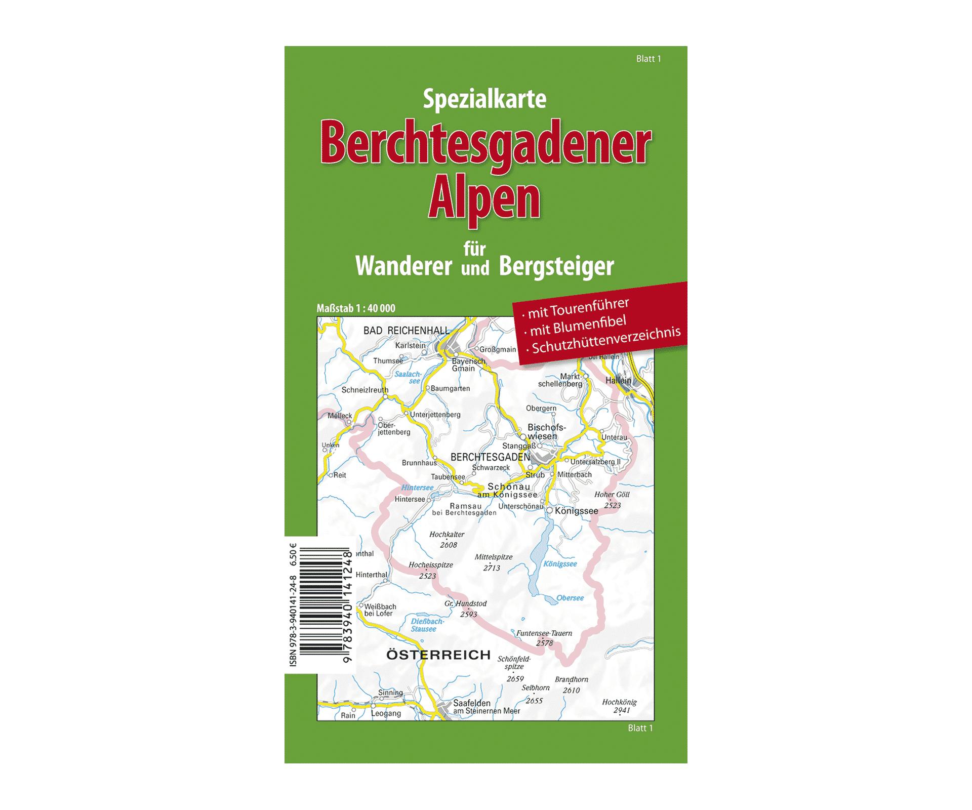 Berchtesgadener Land Karte.Spezialkarte Berchtesgadener Alpen 1 40 000