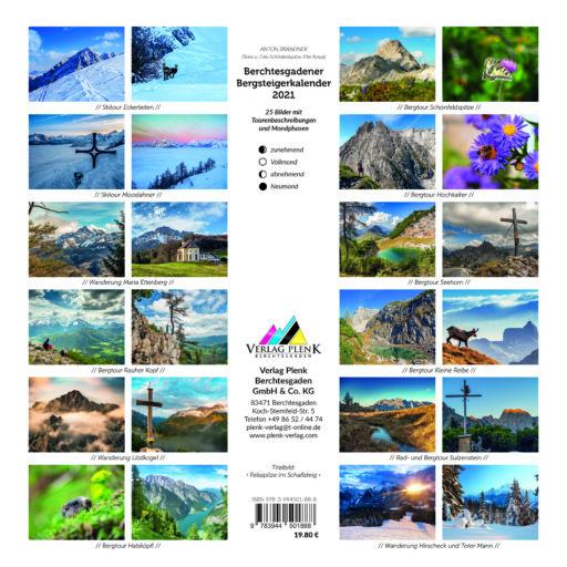 Übersicht Berchtesgadener Bergsteigerkalender 2021