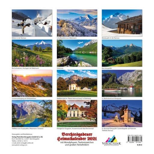Übersicht Berchtesgadener Heimatkalender 2021